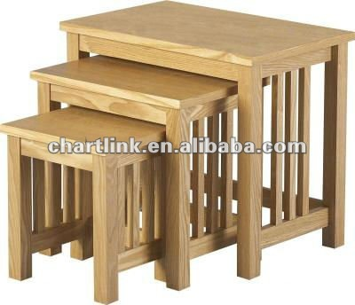 Three Unique Ash Nesting Tables , Please click to get details