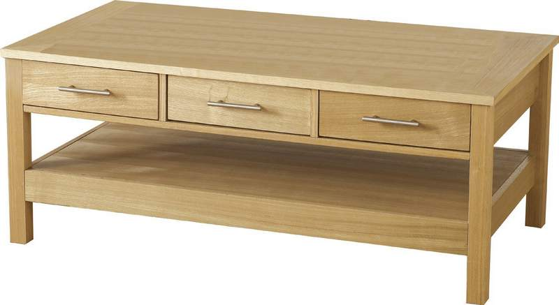 The coffee table boasts 3 spacious drawers which are perfect for storing magazines, books and television remotes.