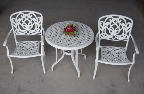 Aluminium cat table and chairs , Please click to get details